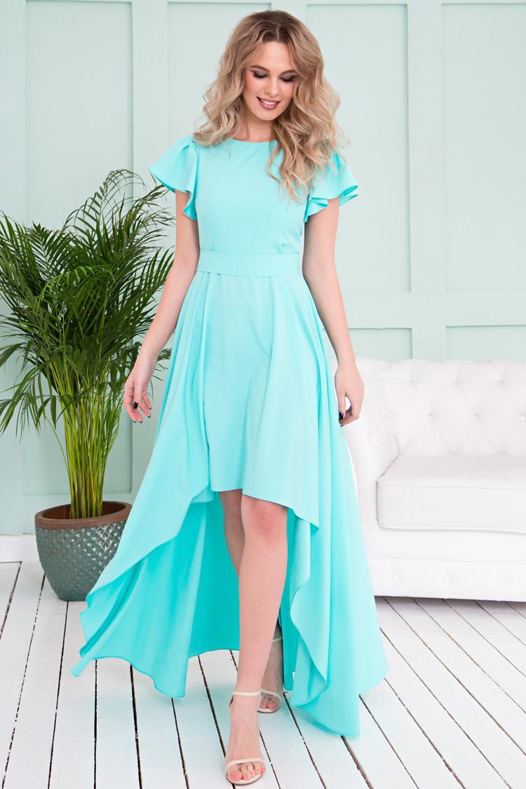 яркие ассиметричные платья
