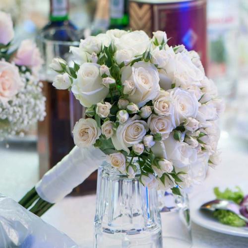 розы венделла букет белых роз