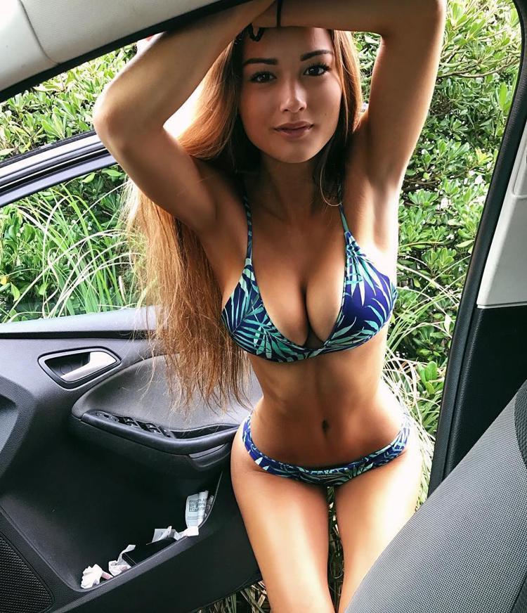 Girl bikini grab, latina w ass implants