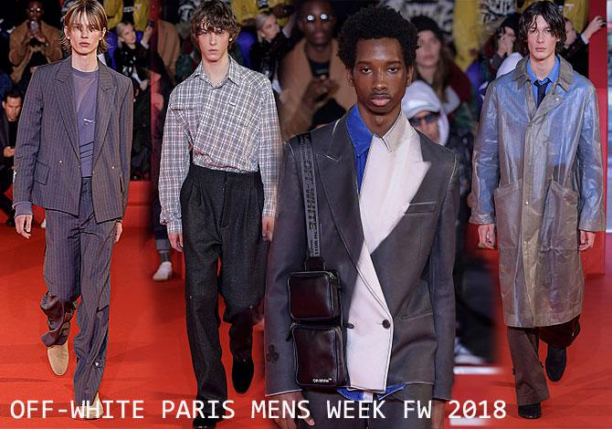 мода Off-White Paris Mens Fashion Week осень зима 2018 2019