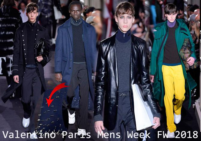мода Valentino Paris Fashion Mens Week осень зима 2018 2019