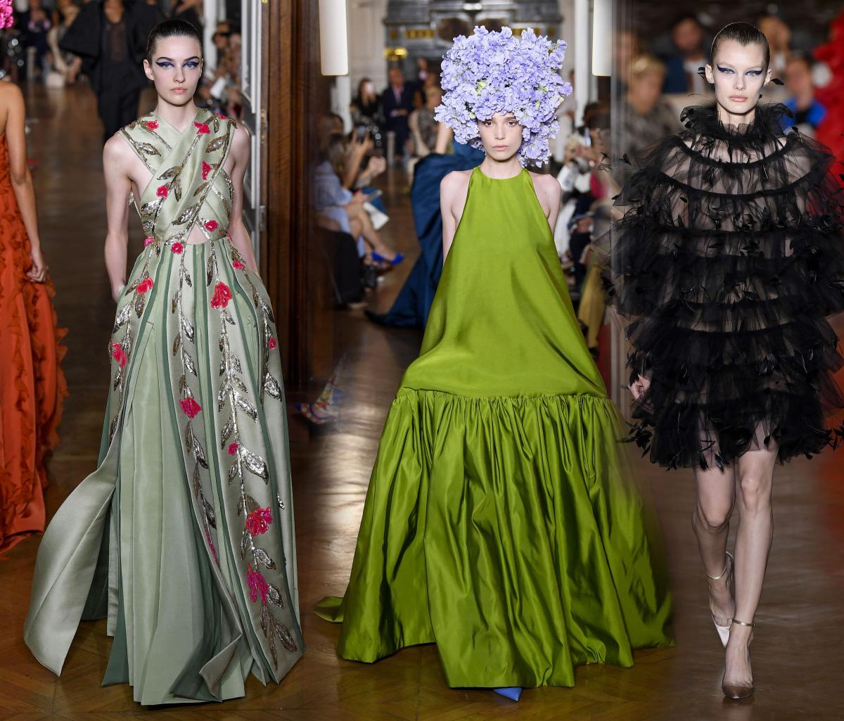 6036c7aad90 Фото Вечерние платья Валентино из коллекции Valentino Fall Couture 2018 на  осень 2019