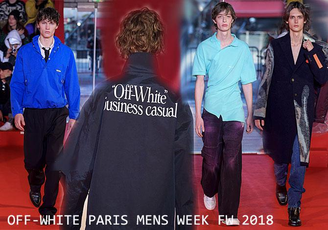 мода Off-White Paris Fasion Week осень зима 2018 2019