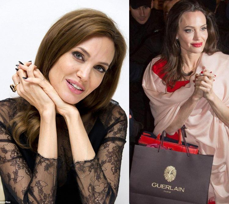 Маникюр 2018 Анджелина Джоли