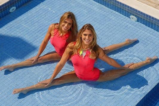 Сексуальные близняшки Биа и Бранка Ферес на фото