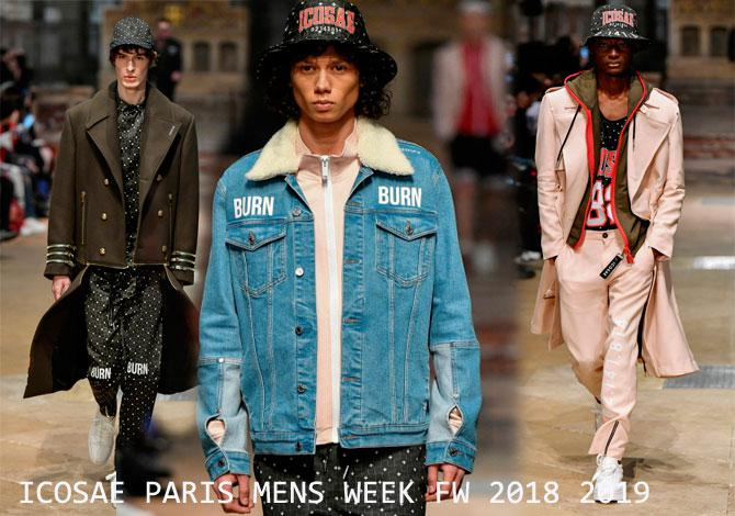 мода Icosae Paris Mens Fashion Week осень зима 2018 2019