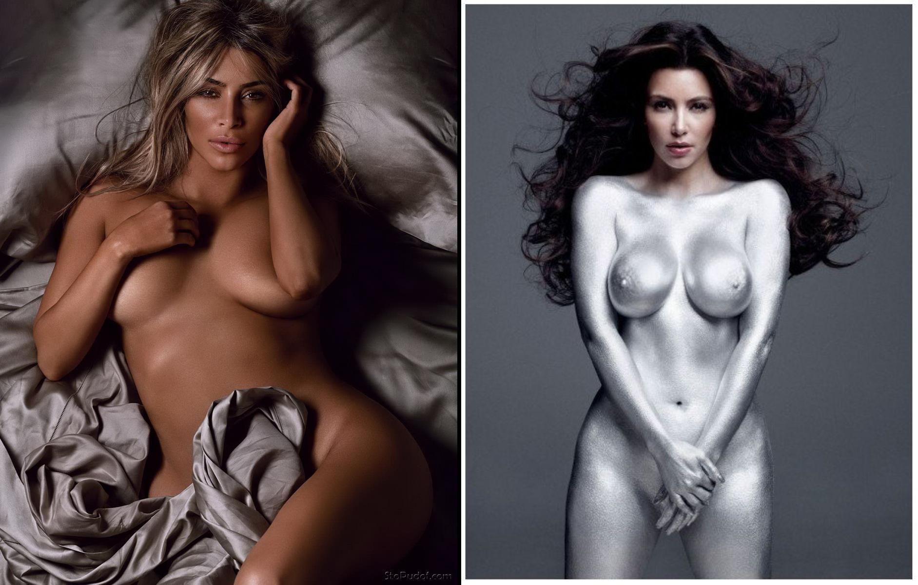 Обнаженные формы Ким Кардашьян фото